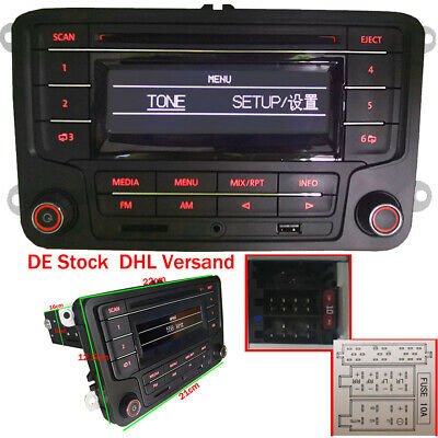 Autoradio RCN210 Bluetooth CD USB SD Für VW Golf 5 6 Passat Seat touran CADDY T5