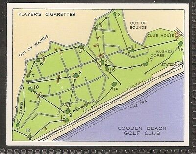 Players Large Card-Championship Golf Courses-#22- Cooden Beach