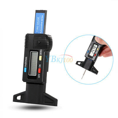 Car Wheel Tyre Tread Depth Gauge Digital Meter Measurer Depth Gauge Tool 0-25mm