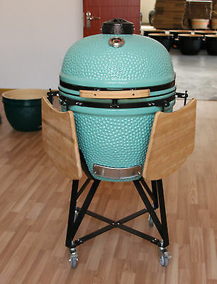 "YNNI 25"" Bespoke Kamado Oven BBQ Grill Egg with Stand choice of Colours TQ0025BS"