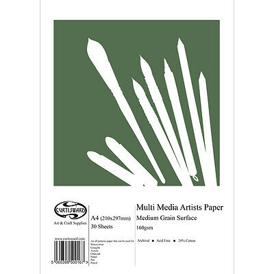 A4 Curtisward Multi Media Artists Paper Pad. For Pencil, Pastel, Watercolour etc