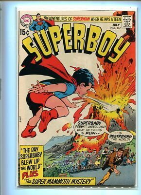 Superboy #167 Hi Grade Spectacular Cover Gem