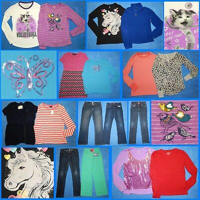 17 Piece Lot Nice Clean Girls Size 14 Fall School Winter Everyday Clothes fw87