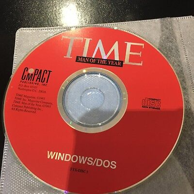 Time Man Of The Year Cd-Rom Windows/Dos From 1993