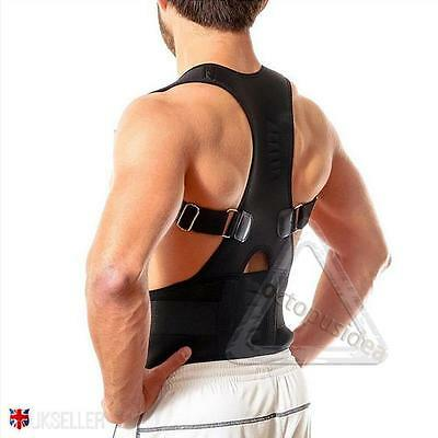 Magnetic Therapy Posture Corrector Body Back Pain Belt Brace Support Shoulder