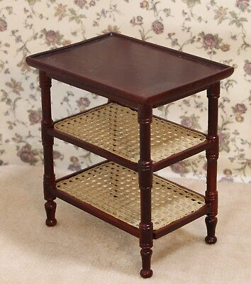 "Bespaq Mahogany ""French Country"" End Table  - Dollhouse Miniature (BQ-6202)"
