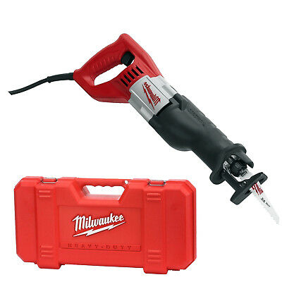 "Milwaukee 6519-31 Sawzall Recip 1-1/8"" Stroke,12 Amp, 0-3,000 SPM Kit New"