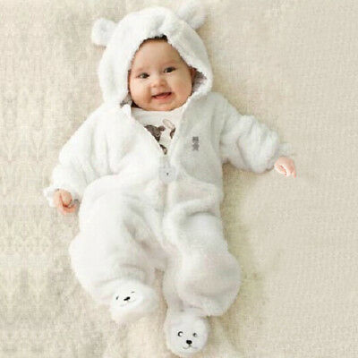 Bodysuit Infant Hooded Romper Newborn Baby Boy Girl Outfits Clothes Jumpsuit