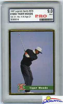 1997 Legends Tiger Woods RC-At Age 21 PRO 9.0 MINT!