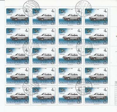 SH392 Wholesale Special 1986 4F Sheet of 20X Cars 1899 & 1985 Fiats