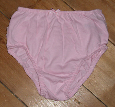 NEW pink cotton baby nappy cover/ pants/ knickers 12-18 months