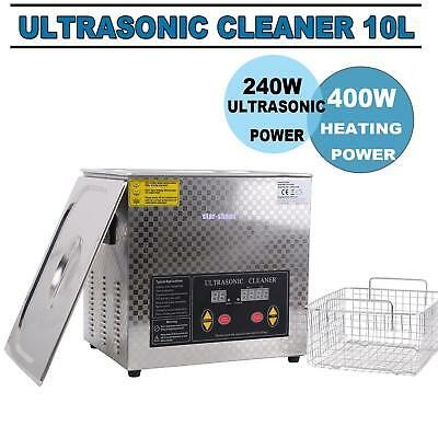 10L Digital Dental Stainless Steel Ultrasonic Parts Cleaner Cleaning Equipment