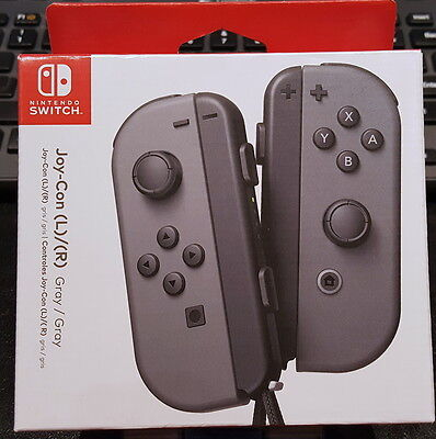 Genuine New Sealed Nintendo Switch Joy-Con Gray Controllers HACAJAAAA Left Right