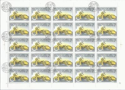 SH465 Wholesale 1985 2F Full Sheet of 25X Motorcycle 1960 H D Duo-Glide