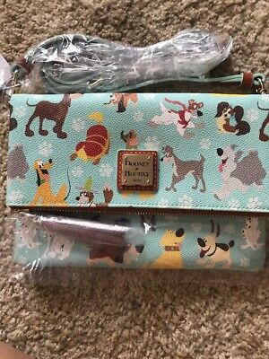 NWT 2017 Disney Dooney & Bourke dogs foldover zip crossbody bag purse