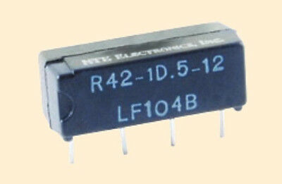 General Purpose, 24 VDC 500mA DC SPST−NO SIP Reed Relay - NTE R42-1D.5-24