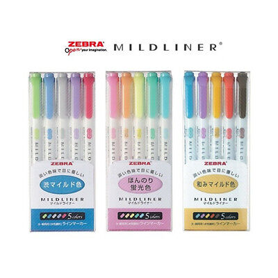 Zebra Mildliner  15 Color Full Set   WKT7-5C / WKT7-5C-RC /WKT7-5C-NC