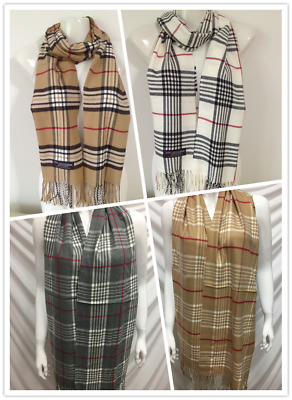 Wholesale 4Pcs 100% Cashmere Scarf Made In Scotland Plaid Design Style F