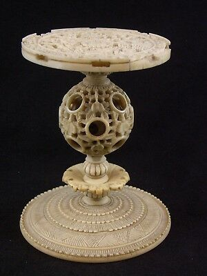 Antique Chinese Cantonese Bovine Bone Puzzle Ball Ornament