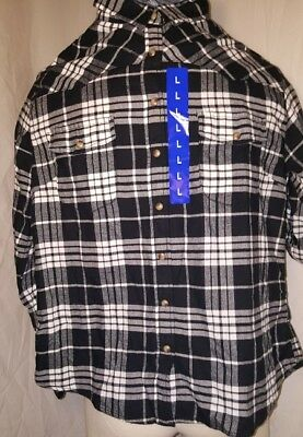 0f0b8c8f1 NWOT Womens JACHS Girlfriend Black White Flannel LS Collared Shirt Size  Large