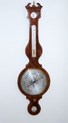 c. 1830 English Barometer - Over Sized Mahogany - Antique