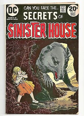 1973 DC Comic Book SECRETS OF SINISTER HOUSE 30580 Vol 3 #13 September