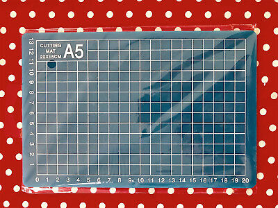 NEW ✿  Blue A5 Paper Craft Measuring & Cutting Grid Lines Mat ✿ 22cm x 15cm ✿