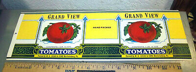Grand View can label W G Lucas /& Sons Warfordsburg PA tomatoes