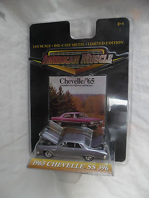 1965 Chevy Chevelle Ss 396 1/64 American Muscle Ertl Collectibles Diecast Rare