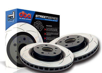 DBA PAIR T2 Slotted Rear Rotors Mitsubishi EVO V-IX 96-08 DBA419S x2