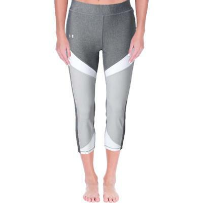 Under Armour 1707 Womens Pull On Heathered Logo Athletic Leggings BHFO