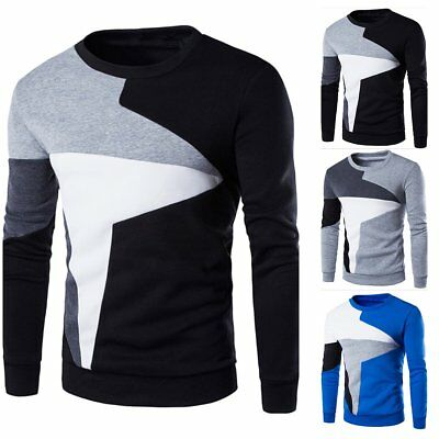 2017 Men's Casual Round Neck Knit Sweater Pullover Knitwear Jumper Coat Tops