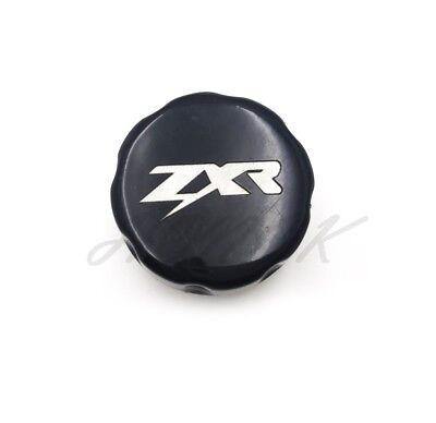 Black Brake Fluid Reservoir Cap Cover For Kawasaki ZX10R 04-08/ZX12R 00-05