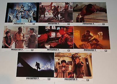 Predator II horror set 8 British movie photos Danny Glover sci fi