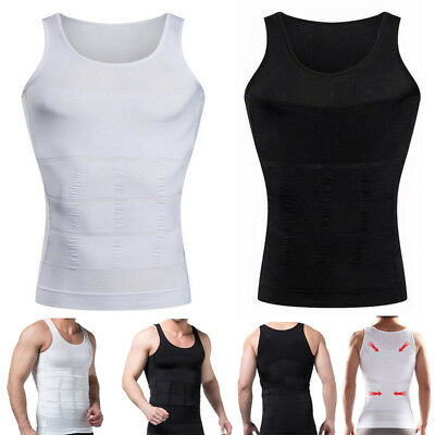 Men's Slimming Compression Shaper Shirt,Slim Fit Undershirt Insta Slim Shapewear