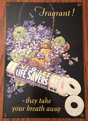 RARE LIFESAVERS CANDY PORCELAIN ENAMLED ANDE ROONEY STEEL SIGN. General Store.