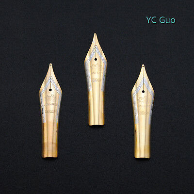 3X Medium Nibs For Jinhao 159  X450 & X750 Fountain Pens Golden Color
