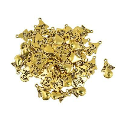 50pcs Angel Wings Charms Pendants Beads Jewelry Making DIY Accessories
