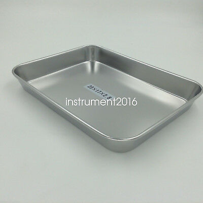 New Stainless steel Instruments tray case 23cm long sterilization tray