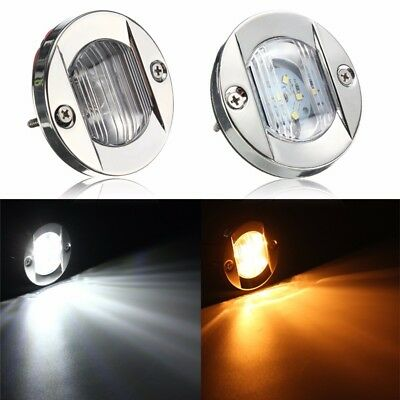 12V IP66 LED Round Marine Stainless Steel Boat Stern Navigation Light Waterproof