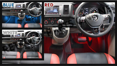Volkswagen Footwell LED - Red White Blue