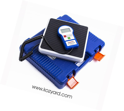Kozyvacu 220lbs Digital Electronic Refrigerant Charging Weight Scales for HVAC /