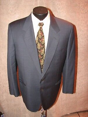 $1299 Canali   Men Brown Pinstripe Wool 3 Butt S/B Suit  42 R Italy