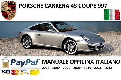 Manuale Officina In Italiano Porsche 997 4S 2006 2007 2008 2009 2010 2011 2012