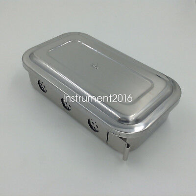 """Stainless steel Instruments tray case 8"""" with hole sterilization tray surgical"""