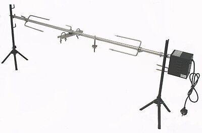 BBQ Charcoal Lamb Hog Roast Rotisserie Spit Tripod Set - Up to 20kg AC & DC