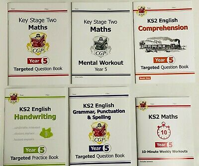 KS2 Year 5 Literacy & Numeracy Home Learning Pack of 5 Workbooks Kids Age 9-10
