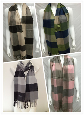 Wholesale 4Pcs 100% Cashmere Scarf Made In Scotland Checked Design Style A