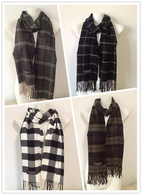 Wholesale 4Pcs 100% Cashmere Scarf Made In Scotland Checked Design Style B