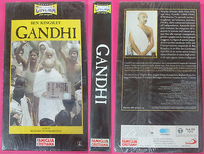 VHS film GANDHI 2000 Ben Kingsley Richard Attenborough SIGILLATA (F183*) no dvd